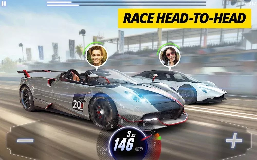 CSR Racing 2 (MOD, Unlimited Money/Key)
