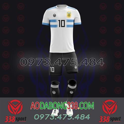 May Áo Đá Bóng Theo Yêu Cầu Mã Argentina-01
