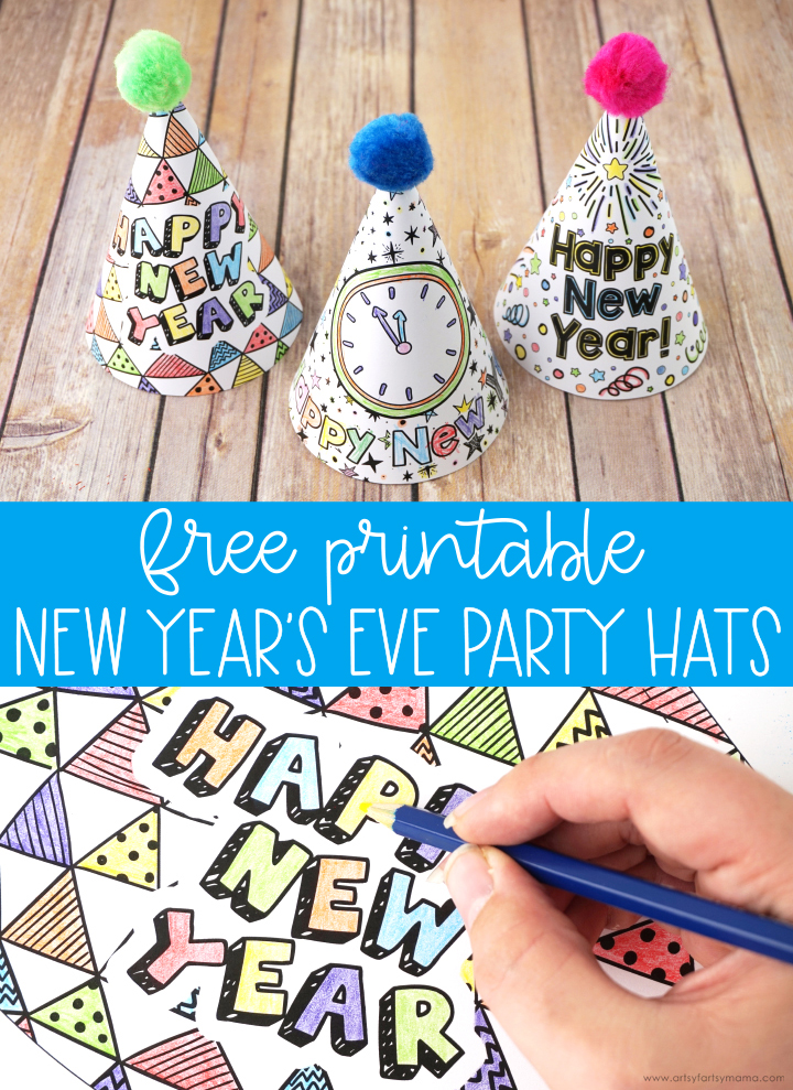 New Year's Party Hat Template