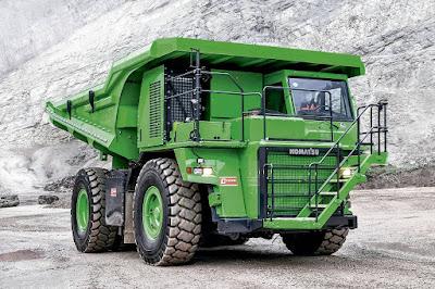 Supercaminhão elétrico leva 65 toneladas