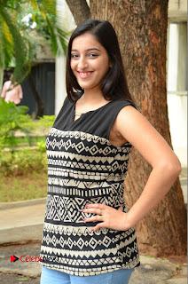 Actress Mouryani Pictures in Denim Jeans at Ardhanari Movie Success Meet  0004.JPG