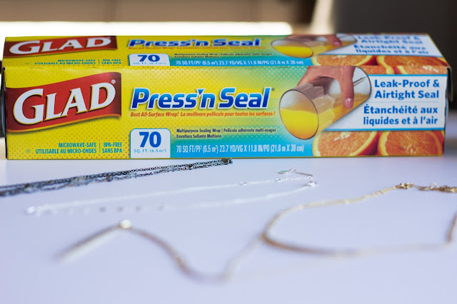 Glad Press and Seal to help protect your jewelry