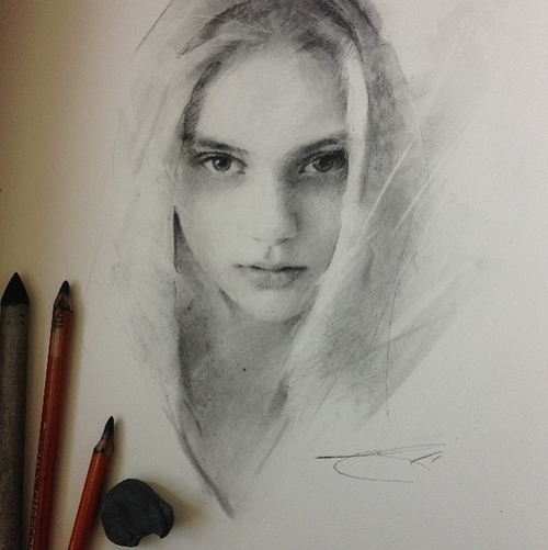 22-Casey-Baugh-Portrait-Drawings-of-Charcoal-Studies-www-designstack-co
