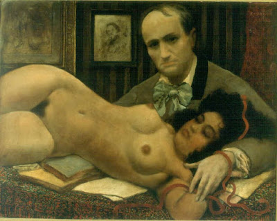 Ο Μπωντλαίρ και η μούσα του [Baudelaire Et Sa Muse, 1920] Αρμάντ Ράσενφος (Armand Rassenfosse 1862-1934)