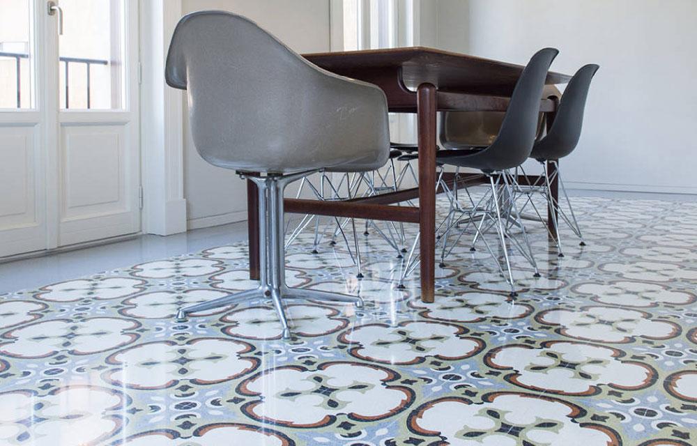 pavimento in graniglia di MIPA decoro Amleto