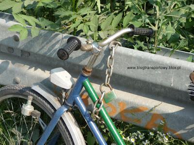 Dobrze zabezpieczony rower