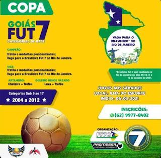 Vem ai a Copa Goiás Fut7 Categoria de base