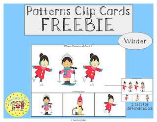 https://www.teacherspayteachers.com/Product/Winter-Patterns-Task-Clip-Cards-Winter-FREEBIE-2960955