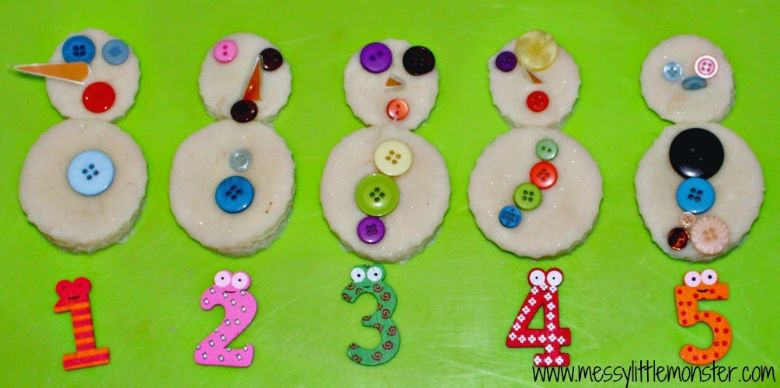 counting snowman winter activity for kids