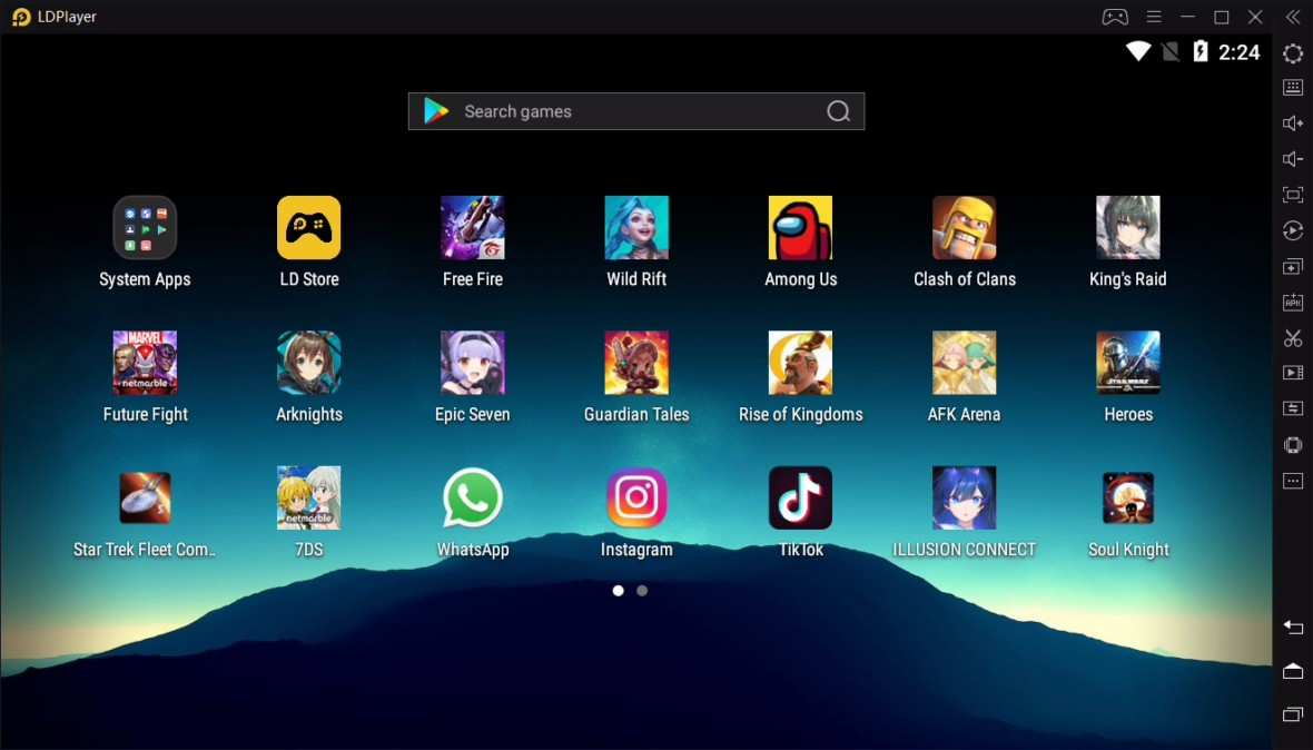 Android emulator for Windows 7