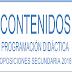 CONTENIDOS PROGRAMACIÓN DIDÁCTICA OPOSICIONES SECUNDARIA 2018