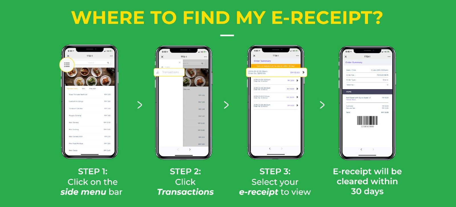 WeChat Pay Smart Order: Where to find e-receipt?