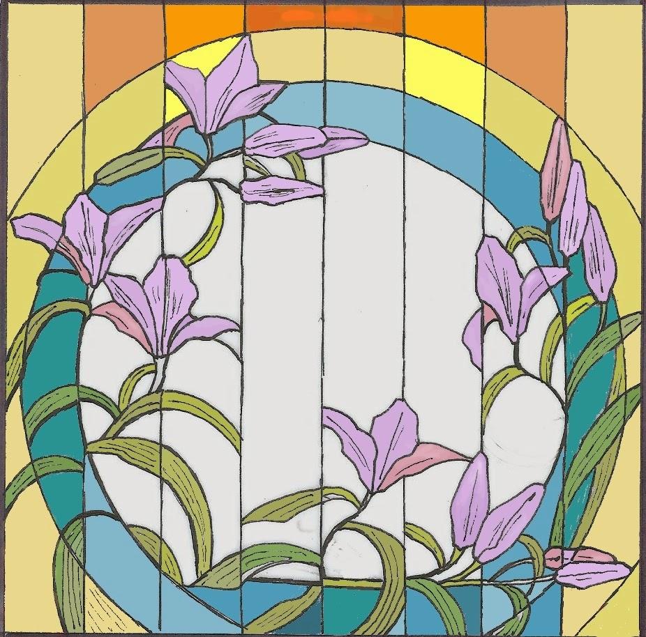 návrh na vitráž