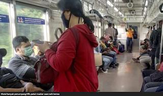 Virus Corona: Penumpang KRL Commuter Line Wajib Pakai Masker