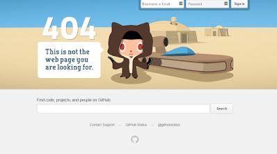 Página de error 404 como buscador