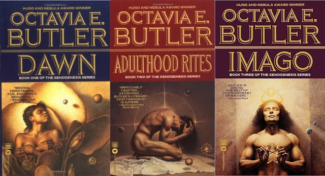 I am still looking for someone to buy me these--I'd like the editions with these covers if possible, rather than the huge and unwieldy Lilith's Brood anthology, whose cover I could also take or leave