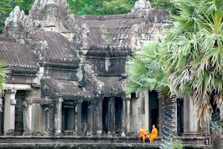 Monks Angkor Wat Cambodia