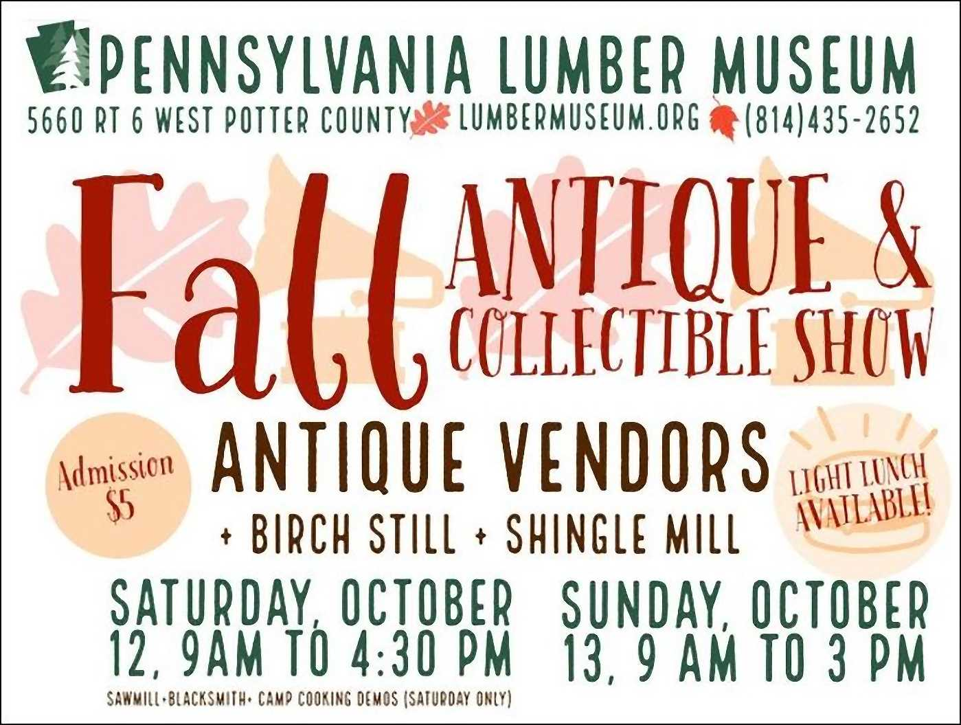 Pennsylvania Lumber Museum Fall Antique & Collectible Show