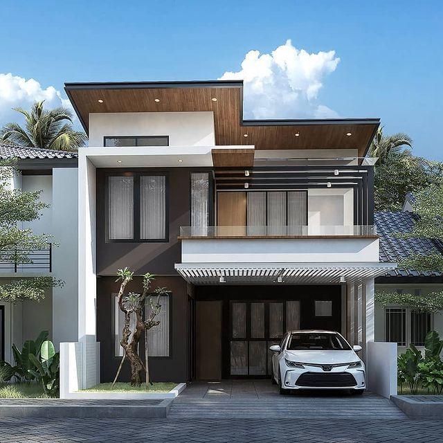 desain rumah gaya amerika klasik