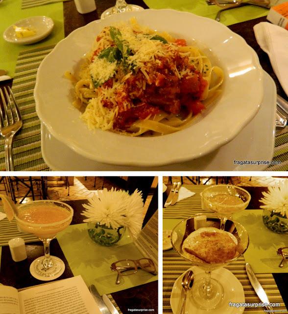 Jantar no Restaurante La Scala, no Hotel de la Ópera, em Bogotá