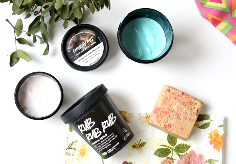 lush shower exclusive body conditioner scrub lotions