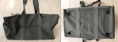 ロスコ カーゴバッグを焚き火の薪収納に使用・ゴム足加工レビュー
