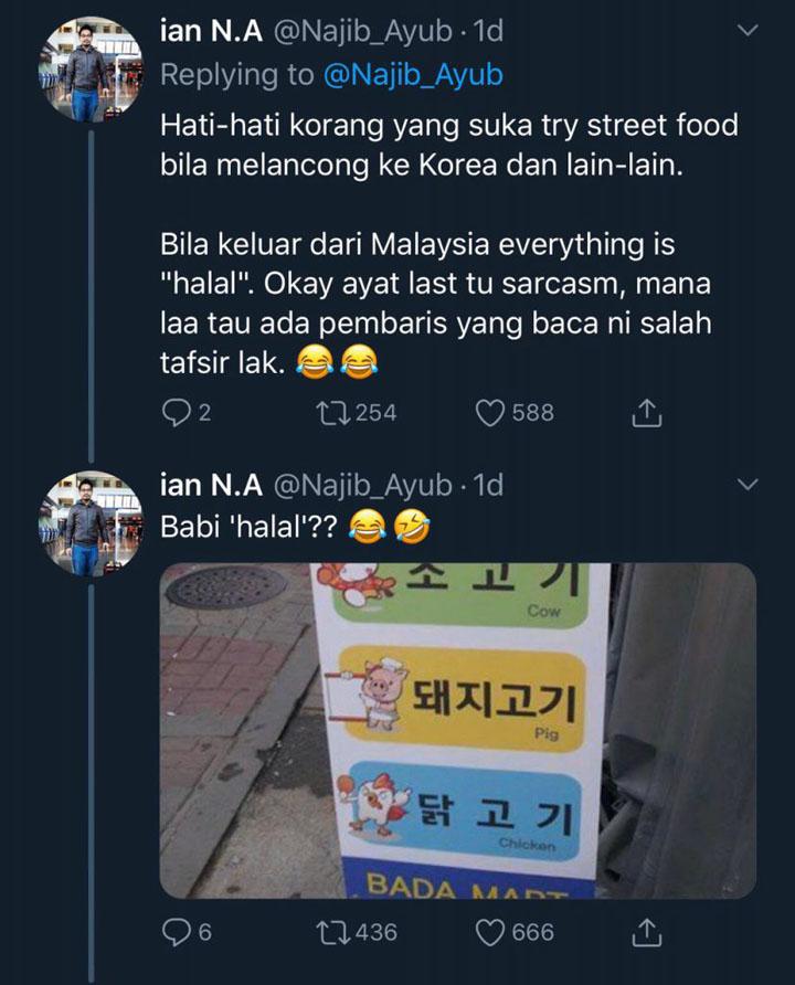 Babi halal dijual di Korea