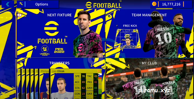 DLS Mod eFootball PES 2022 New Update Squad & Jersey 21/22