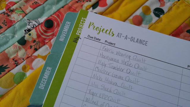 Slice of Pi Quilts: Quilting goals for 2017 in Quilter's Planner
