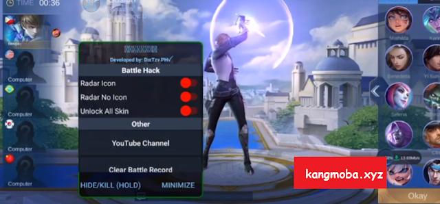 APK MOD Megamodz Radar Map + Unlock All Skin Mobile Legends