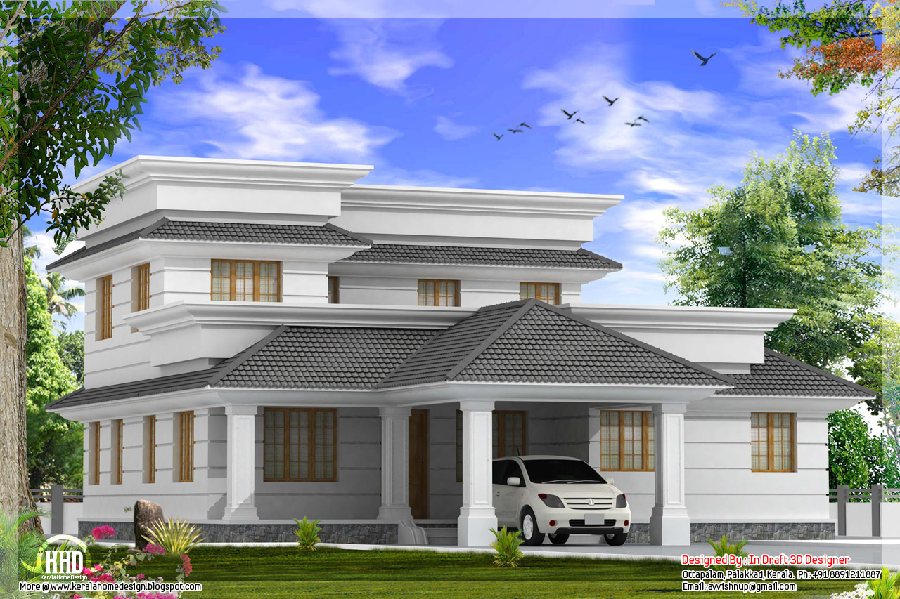 Front Elevation Of 200 Sq Yards : Modern bedroom villa with courtyard in sq feet