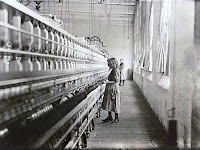 Sadie Pfeifer Cotton Mill Spinner (1908), child labor photograph by Lewis Hine.