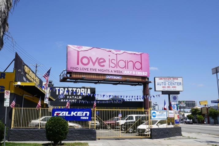 Love Island CBS remake billboard