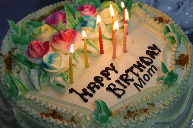 Happy Birthday Mom -Wishes, Cake Photos
