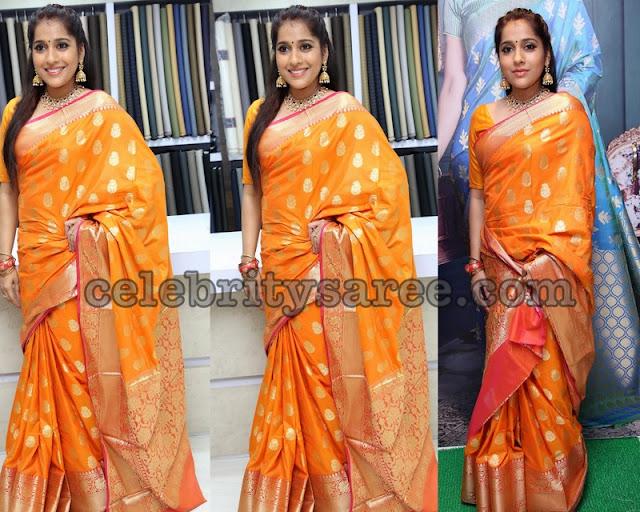 Anchor Rashmi Gautham Benaras Saree