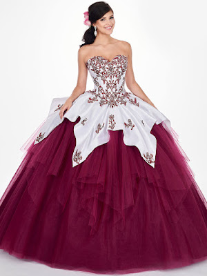 Cap Sleeves Mary's Quinceanera Ball Gown Design Light/Jade Color Dress