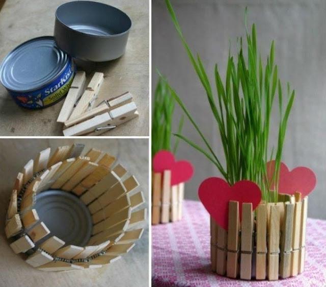 Vasos a partir de materiais reciclados