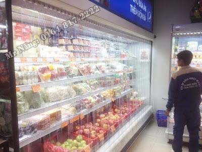 Rèm ngăn lạnh kệ đồ siêu thị