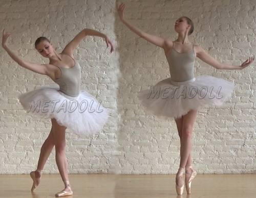 Young ballet dancer show off their flexible bodies