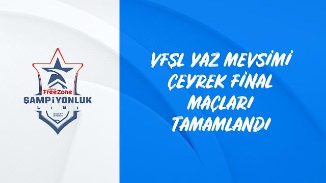 Vodafone FreeZone Şampiyonlar Ligi'nde Çeyrek Finaller Tamamlandı