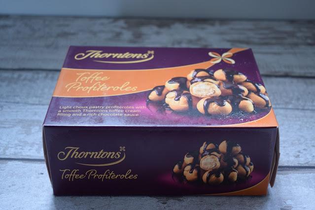 Frozen desserts Thornton's toffee profiteroles
