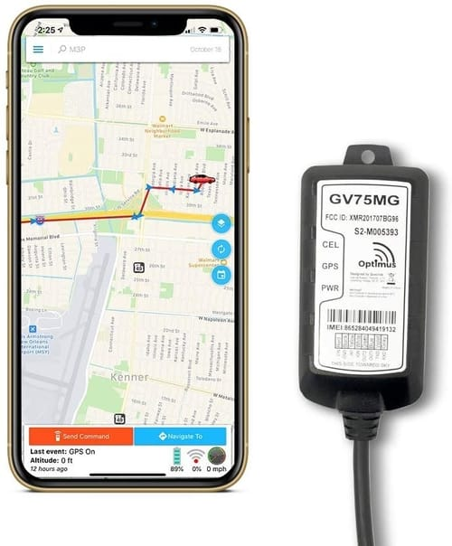 Optimus GV75MG Waterproof Wired GPS Tracker