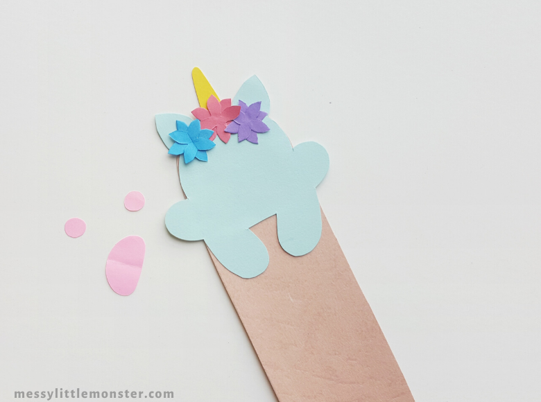 how to make a unicorn bookmark craft