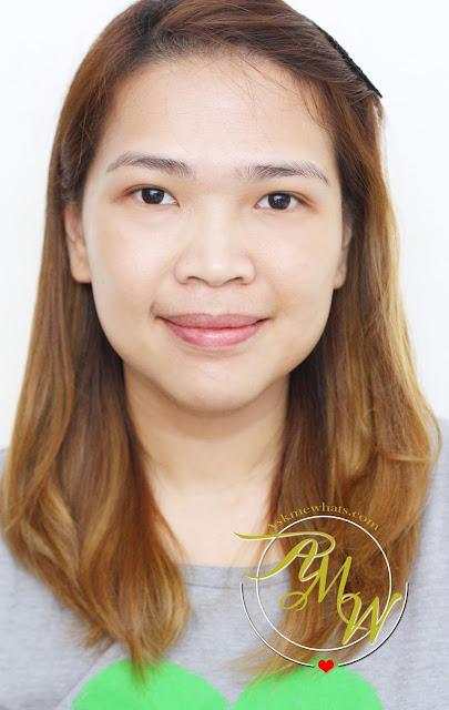a half face photo using Burt's Bees BB Cream Review in shade light/medium