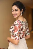 Ritu Varma smiling face Cream Anarkali dress at launch of OPPO New Selfie Camera F3 ~  Exclusive 077.JPG