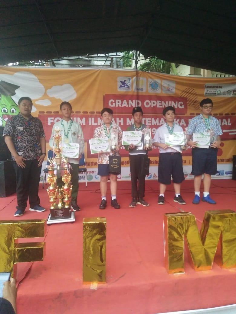 Aristo Budiman Juara 2 MCJHS FIMNAS 2019