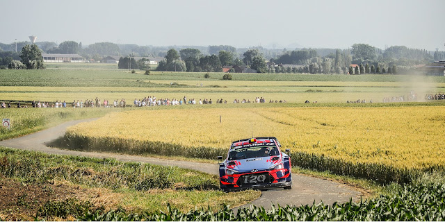 Hyundai World Rally Car WRC on Ypres Rally