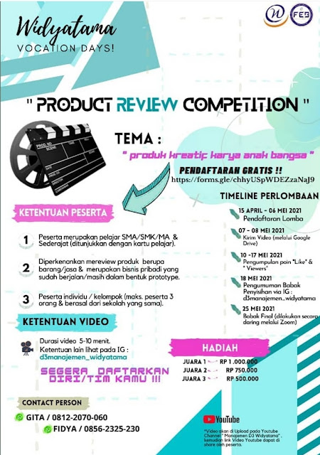 PRODUCT REVIEW COMPETITION