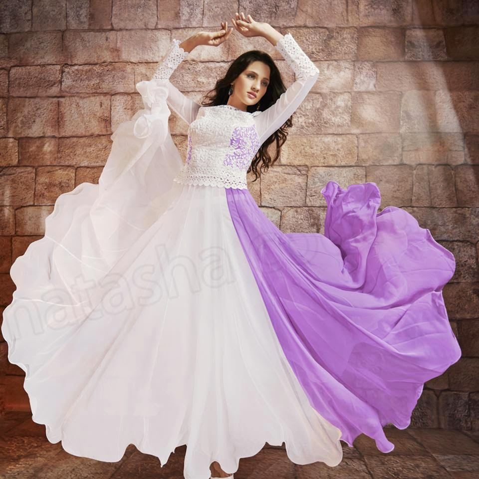 Stylish Ready To Wear Anarkali Frocks For Young Girls By