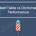 Performance measurement of Dictionary VS. Hashtable